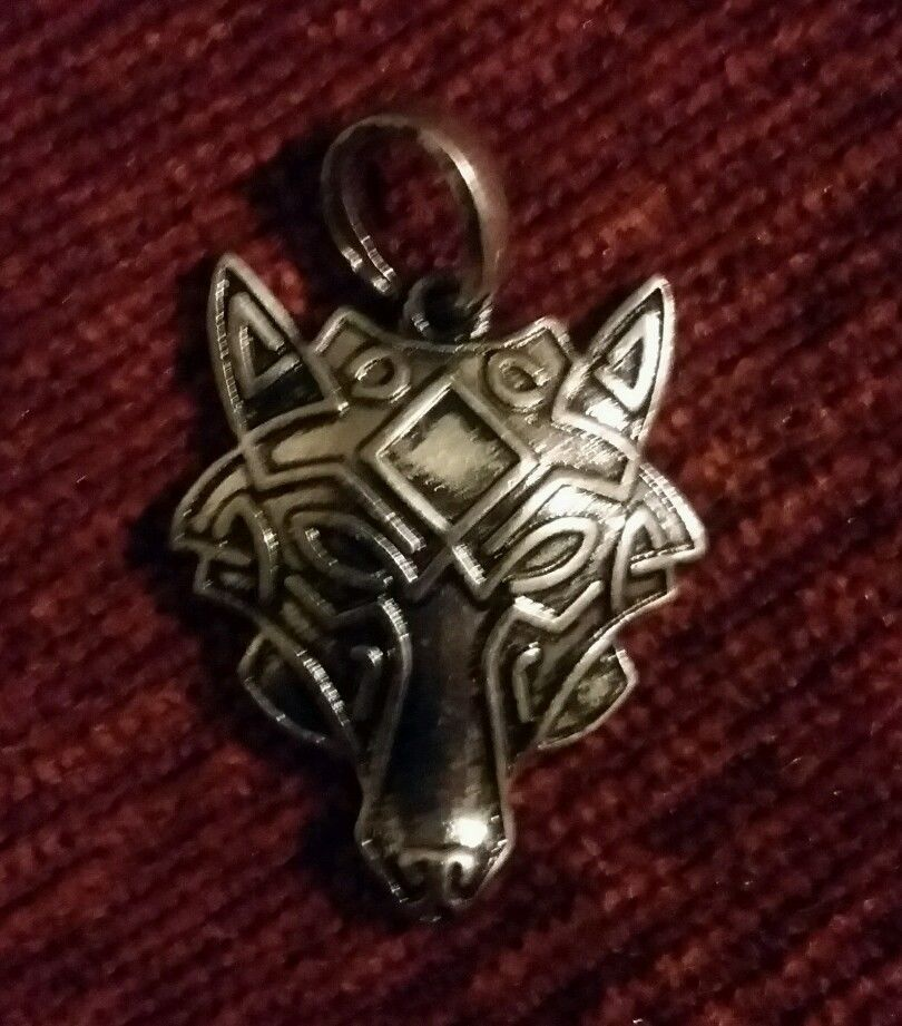Wolf of odin pendant with odal rune engraved wolf pendant aloadofball Gallery