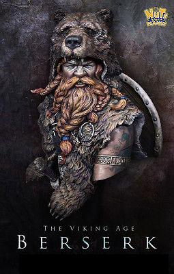 Berserker Bust Resin Kit Alchemy Symbols