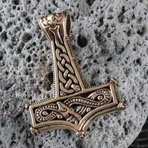 Viking Dragon Knot Bronze Thors Hammer
