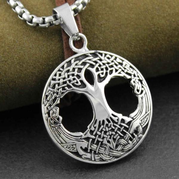 yggdrasil tree of life pendant