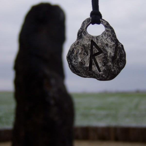 Raido Pendant Rune Necklace