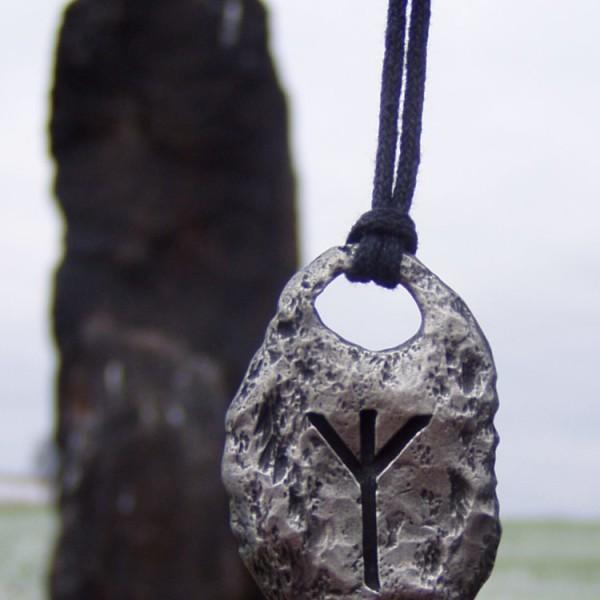 Algiz Rune Pendant Necklace