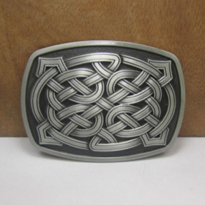 nordic pagan knotwork belt buckle
