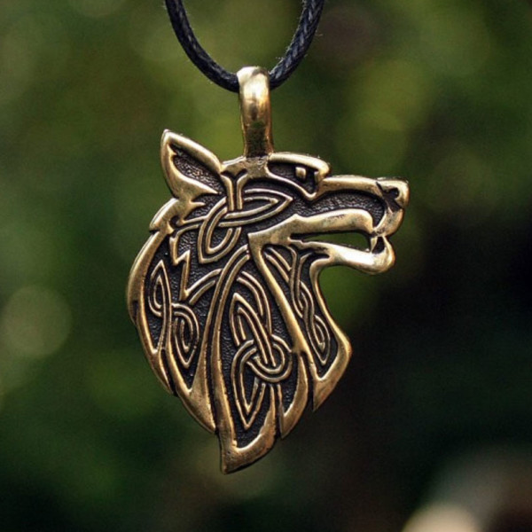 Fenrir Necklace The Viking Wolf By Honor The Roots