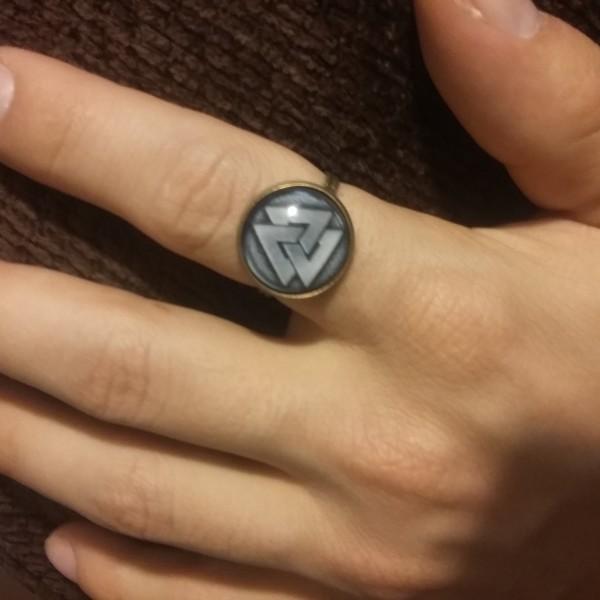 Adjustable Valknut Ring