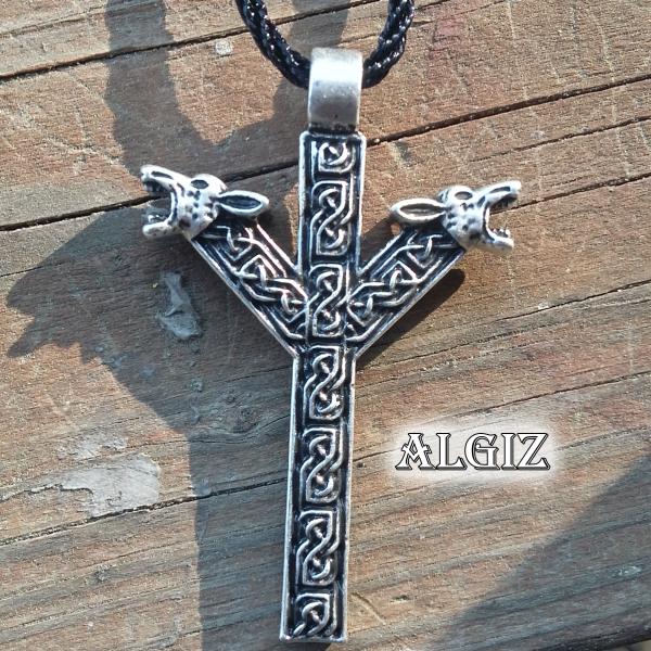 Algiz Rune Necklace