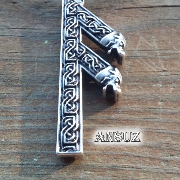Ansuz Rune Necklace