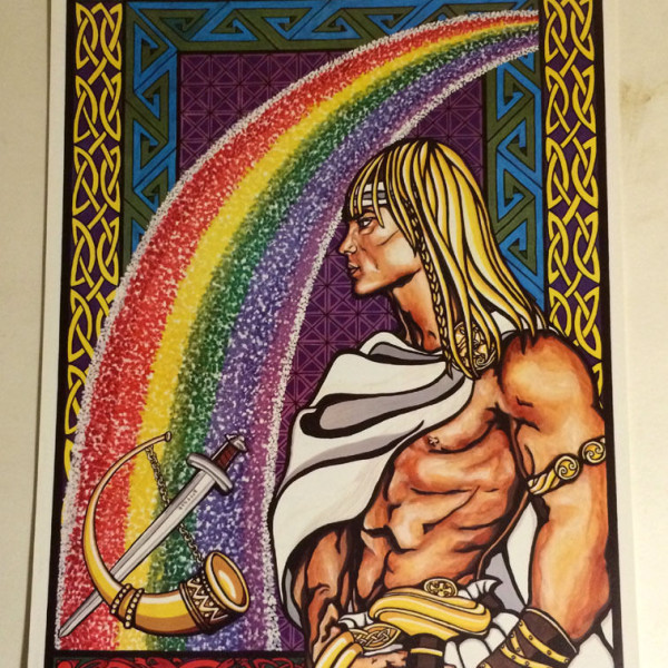 Heimdall and Bifrost Poster