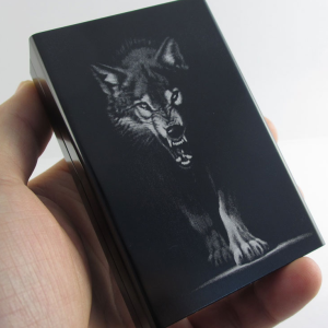 wolf cigarette case