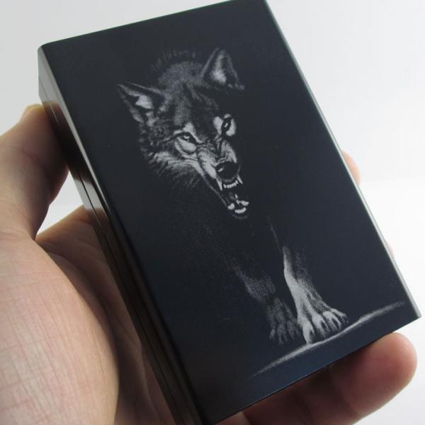 wolf cigarette case