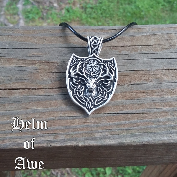 Stag Helm of Awe Necklace 3