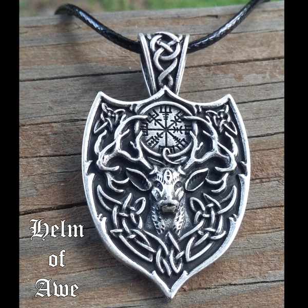 Stag Helm of Awe Necklace