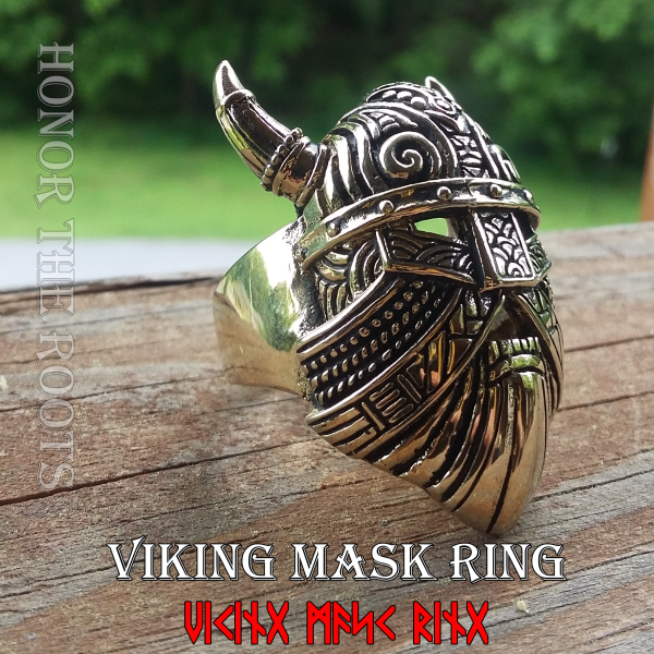 Viking Mask Ring