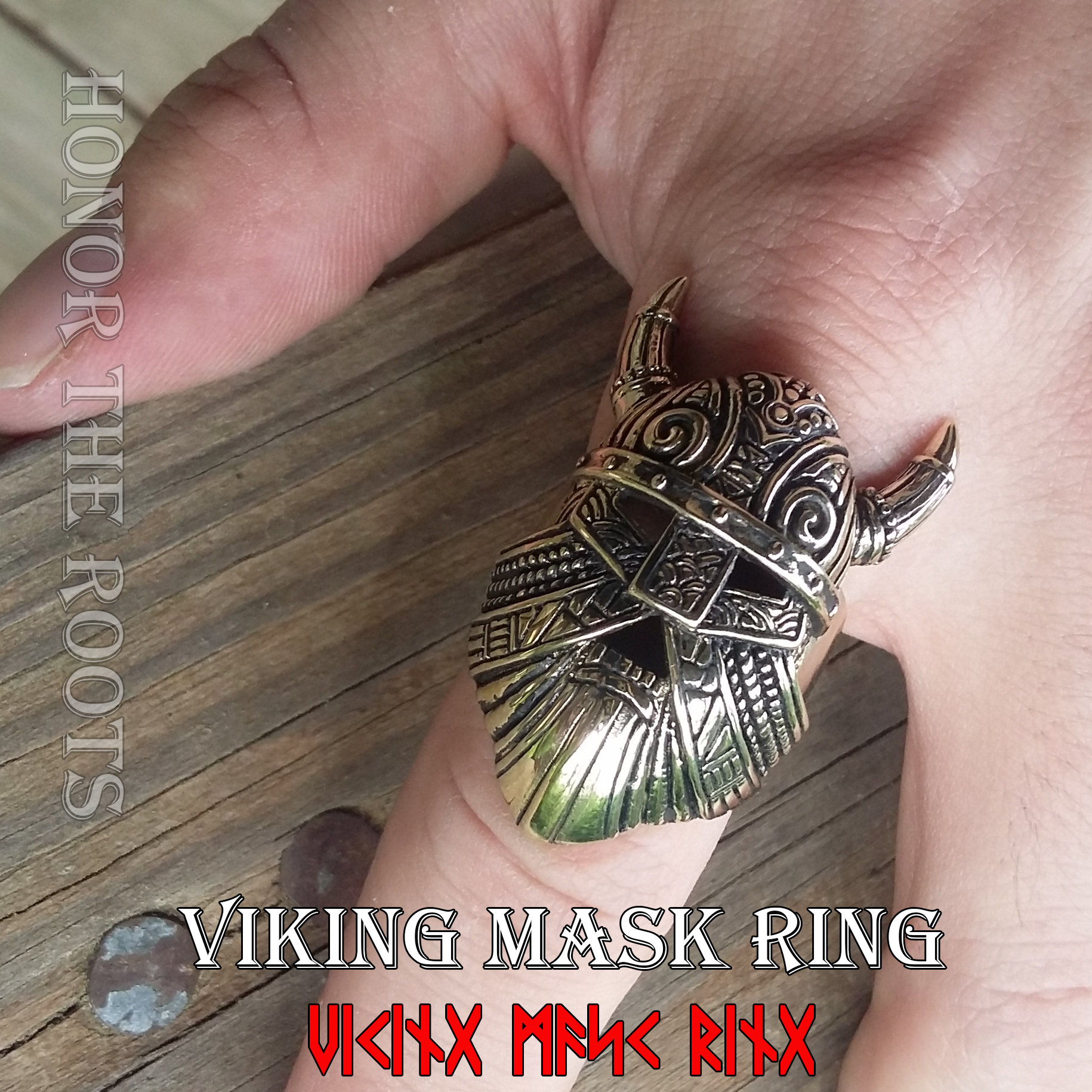 Viking Mask Ring Honor The Roots