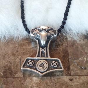 Mannaz Mjolnir Necklace