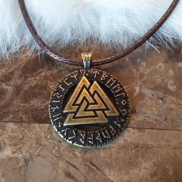 Valknut Futhark Necklace