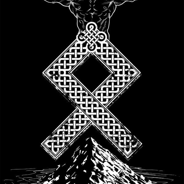 Odal Rune Viking Hoodie Pullover
